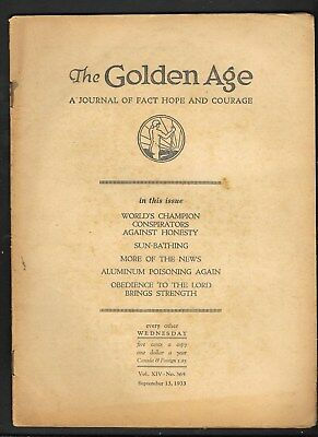 Watchtower: The Golden Age - Sept 13 - 1933 No. 365