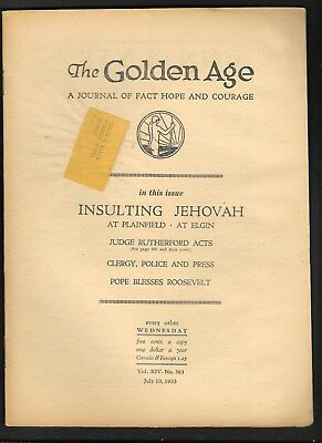 Watchtower: The Golden Age - July 19 - 1933 No. 361