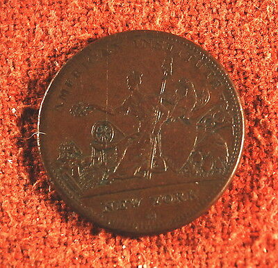 1836 R.W. Robinson Xf Low 103 Attleboro Massachusetts Hard Token