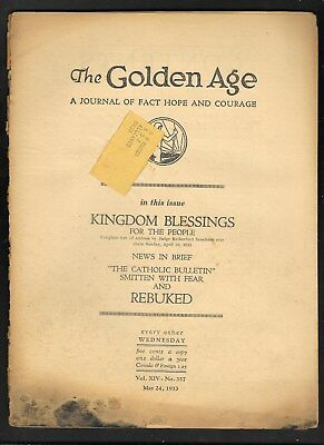 Watchtower: The Golden Age - May 24 - 1933 No. 357.