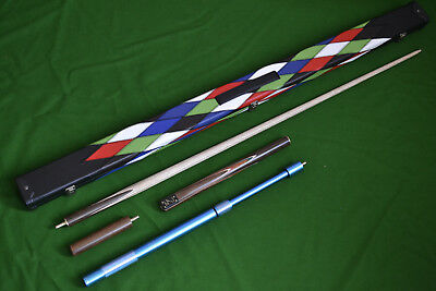 Brand New Robin Scott Handmade Ash Snooker Pool Cue Set Edition 8 With 9.5Mm Tip