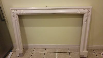 Wooden decorative fireplace surround - used, removed when decorating front room