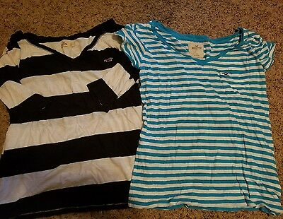 hollister size large shirts lot of 2