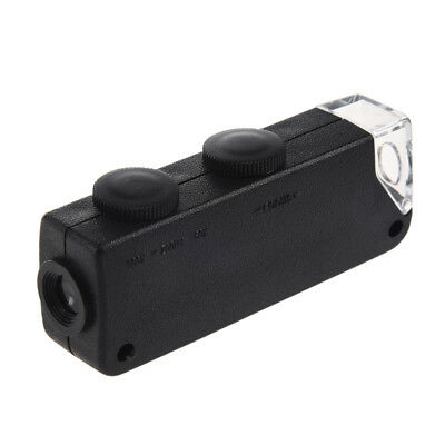 Portable 60x-100x Zoom LED Microscope Pocket Magnifier Magnifying Loupe Gla W2X9