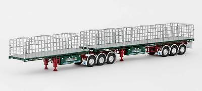 New Drake Maxitrans Freighter B Double Flat Top Trailers Membrey 1:50 ZT09127