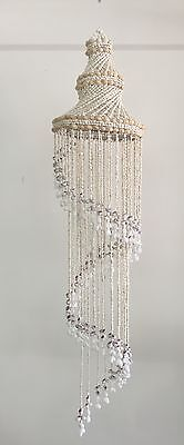 Shell Chandelier Medium white 82cm x 20cm diam