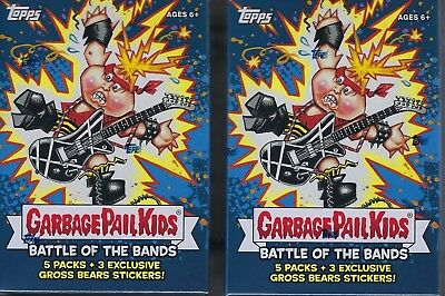 (2) 2017 Topps Garbage Pail Kids #2 Battle Of The Bands Cards SE Blaster Box LOT