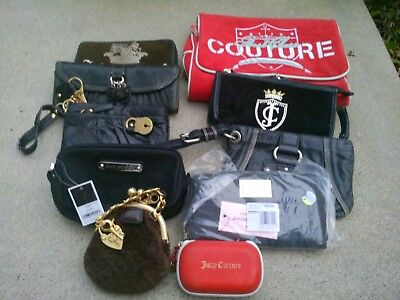 11 Authentic Juicy Couture Wallets/Cosmetic Bags/Etc