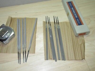 NOS 11 Nicholson 6'' XF Pillar Ex. Narrow files 00 cut w/box swiss pattern tools