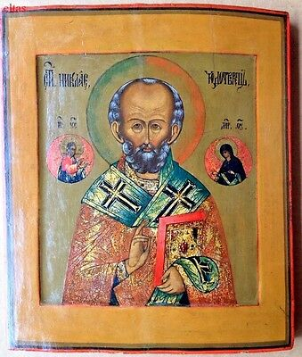 RUSSIAN ICON Saint Nicholas the Miracle Worker