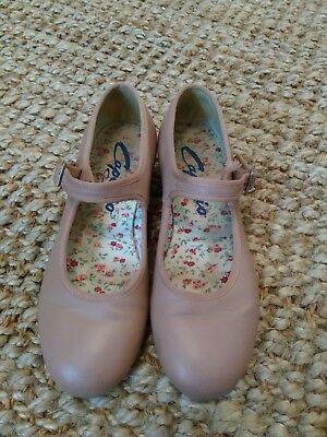 Girls Capezio Tap Shoes Size 5M Leather Upper