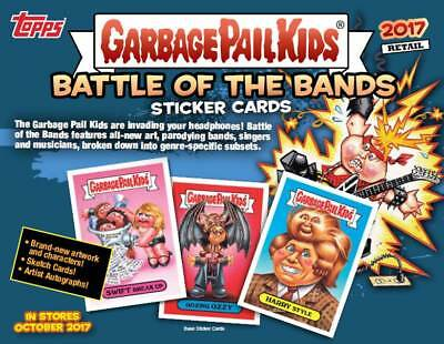 2017 Topps Garbage Pail Kids #2 Battle Of The Bands Cards EA Blaster Box CASE