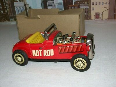 Vintage 1960's TN Japanese Tin Friction Hot Rod Car