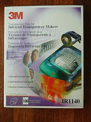 NEW/Sealed 3M Transparency Film For Infrared Transparency Makers (100 Count)