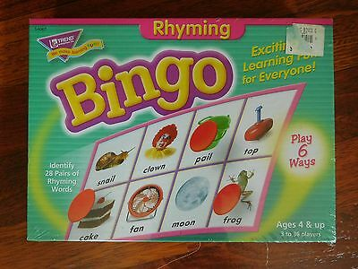 NEW / Sealed Trend Rhyming Bingo Game - Rhyming Words