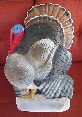 "Vintage 25"" DON FEATHERSTONE Thanksgiving Turkey lighted blow mold yard decor"