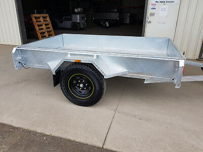 Off Road, galvanised trailer, 7x4, Brand New, Fully Welded 2.5mm checkerplate