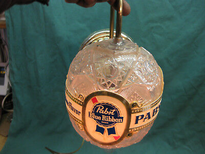 Pabst Blue Ribbon Beer Wall Sconce Rotating Light