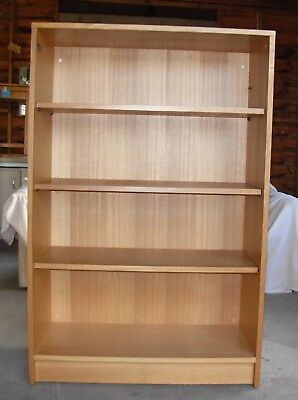 Book case - solid and with deep, adjustable shelves