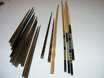 Chinese or Japanese Chop Sticks Mixed Lot Wood 2 hand Painted colorful and Plain