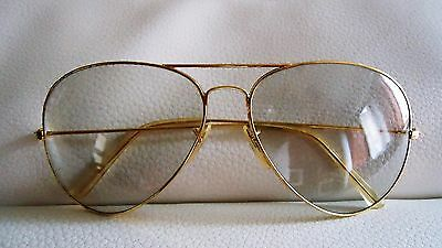Vintage 1972 Ray Ban Bausch & Lomb Gold Plated Photochromic Aviator LARGE 62mm