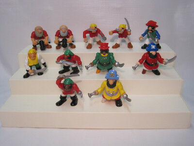 Fisher Price Great Adventures Pirates / Lot of 11 Figures