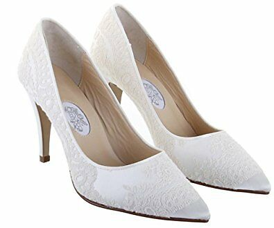 Ivory Lace Wedding shoes Size 6 'GEORGIE GIRL' by Hassall