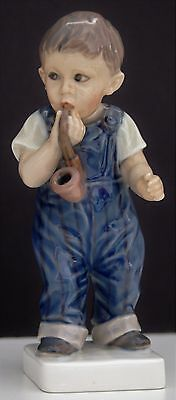 "DJ COPENHAGEN DENMARK Boy With Pipe Dahl Jensen Figurine Marked ""1027 G"" # 2219"