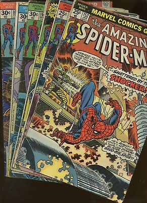 Amazing Spider-Man  152,154,158,160,161,165 ~ 6 Book Lot * 1st Jigsaw (Cameo)!!!