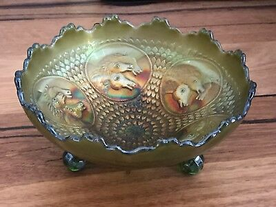 Carnival Glass  Bowl Horses