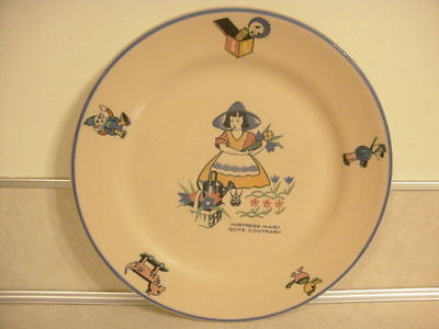 Vintage Mid Century Shenango China Nursery Rhyme Mistress Mary Quite Contrary!