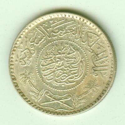 Saudi Arabia Silver 1935 1/2 Riyal-Lot E13