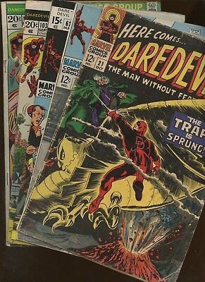Daredevil 21,45,62,103,105 ~ 6 Book Lot * Lee! Thomas! Colan! Gerber! Heck!