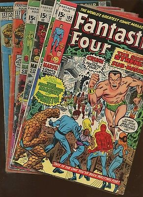 Fantastic Four 102,103,106,113,117,127 ~ 6 Book Lot * Kirby! Romita! Buscema!