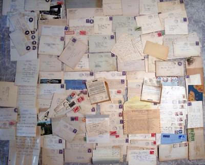 Collection of 125+ Letters Covers Professor George H Fick 1930-2016 Content WW2
