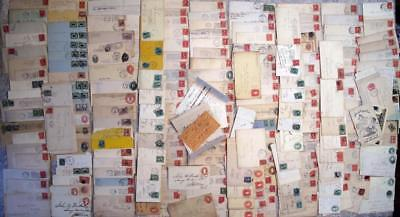 Wonderful Collection 225+ Postal Covers Letters Stamps 19th Century NY History $