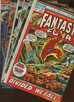 Fantastic Four 128,134,138,139,149,153 ~ 6 Book Lot* John Buscema! Rich Buckler!