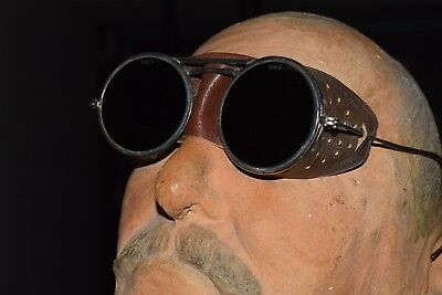 antique WELDING / CUTTING GLASSES sunglasses steam punk googles