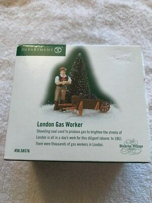 Dept. 56 Dickens Village Retired London Gas Worker #58576 Mint With Box