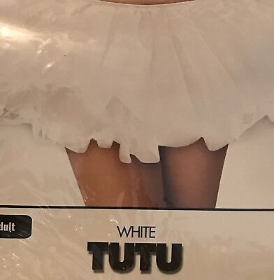 Party Perfect New While TUTU Halloween Costume - Layered - OS Adult - NRFB - NEW