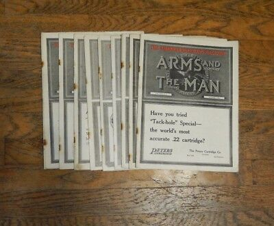 """1921 The American Rifleman's Magazine """"Arms And The Man"""" 9 Issues"""