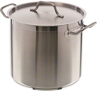 Update International SPS-16 16 Qt Induction Ready Stainless Steel Stock Pot w...