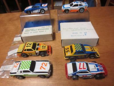 Lot of 6 Vintage 1970's SLOT CARS Rat Trap Mustang  Pinto  Cobra - TCR IDEAL JAM