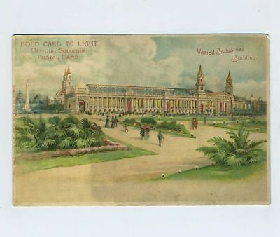 1904 St Louis MO World's Fair Expo Exposition HTL Hold To Light Postcard bv1955