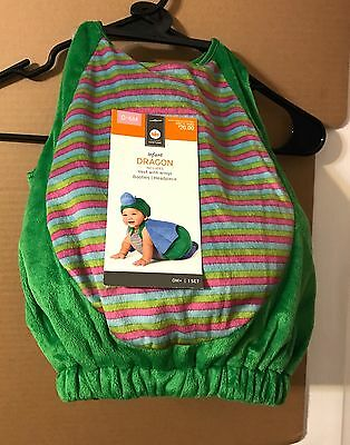 Target Stores, Infant Baby Unisex Green Dragon Halloween Costume, 0-6 Month, Nwt