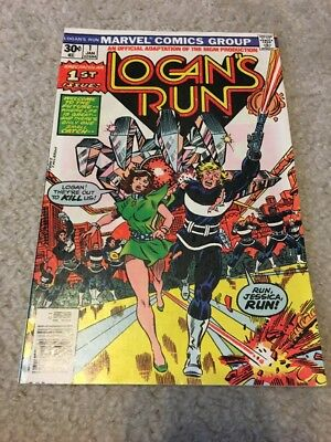 Lot of 6 Marvel Comics Logan's Run Issues! Bronze Age Issues - #1!