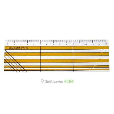 15cm Sewing Tools Patchwork Ruler Arcylic Multi-functional Ruler 2mm BEST