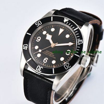 Corgeut 41mm Automatic Watch Brushed Case Black Bezel Sterile Dial WCA2010BSR02