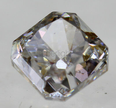 Certified 0.72 Carat H VS2 Radiant Enhanced Natural Loose Diamond 4.44x4.5mm