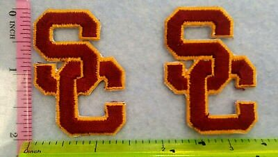 USC Trojans Football NCAA Small2pcs Patch Logo Embroidery iron sewing clothes